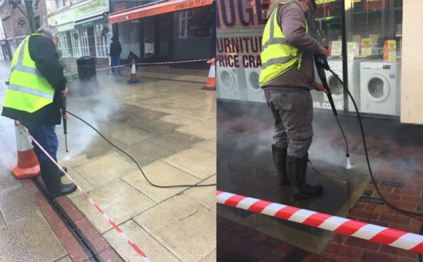 CHEWING GUM AND DEEP CLEANING OF PEDESTRIAN PRECINCTS